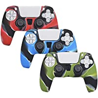 3-Pack Silicone Case Cover Skins for Playstation 5 DualSense Controller
