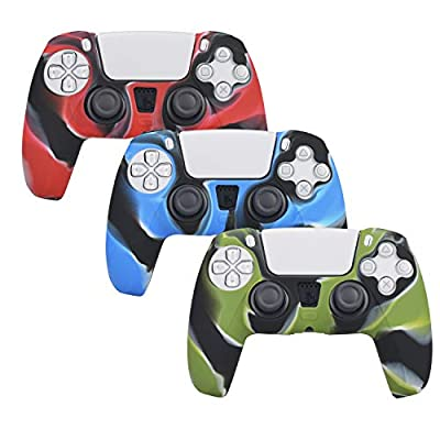 3 Pack Silicone Case Cover Skins for PS5 Contro...