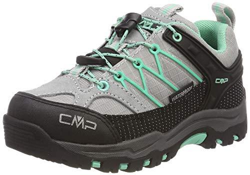 CMP Jungen Unisex-Kinder Kids Rigel Low Shoe Wp Trekking-& Wanderhalbschuhe, Weiß (Ghiaccio-Aquamint 35xc), 33 EU