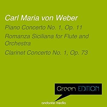 Green Edition - Carl Maria von Weber: Piano Concerto No. 1, Op. 11 & Clarinet Concerto No. 1, Op. 73
