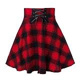 N\P Falda de cintura alta casual para mujer