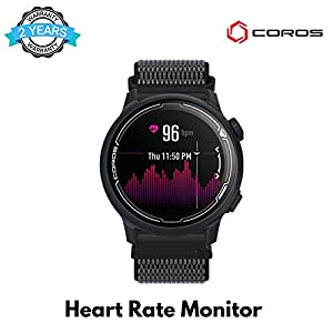 COROS PACE 2 Premium GPS Sport Watch with Nylon or Silicone Band, Heart Rate Monitor, 30h Full GPS Battery, Barometer, ANT+ & BLE Connections, Strava, Stryd & TrainingPeaks (Navy - Nylon Strap)