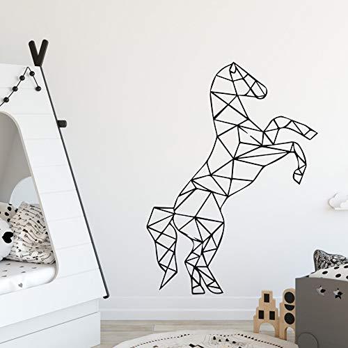 Tianpengyuanshuai Baby Zimmer Kunst Pferd Geometrie entfernbare PVC-Wandaufkleber entfernbare dekorative Wandtattoo 30X40cm