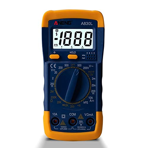 Test Aneng A830L Handmultimeter Elektrische Haushalts Instrument Guangzhoubaiyonghangkongpiaowuyouxiangongsi (Color : Dark Blue)