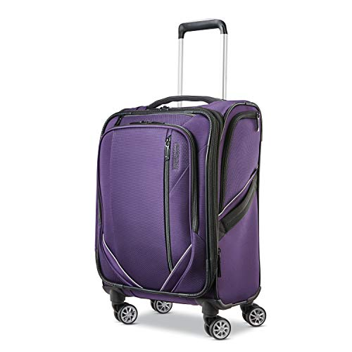 American Tourister 20'' Zoom Turbo Softside Spinner Suitcase - Purple