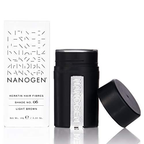 Nanogen Fibras Capilares Queratina: Castaño Claro 15 gr.