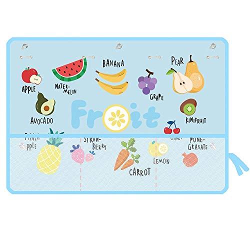 Pare-Soleil Fenêtres de Voiture, Car Blue Shade Fruit Blue Pattern Cartoon Protégez Votre bébé bébé des Rayons du Soleil et des Rayons UV pour Bébé, Adultes,Chien