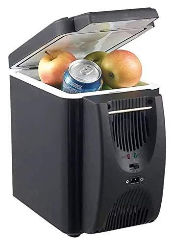 SHUHANG Refrigeradores de Interior para vehículos 12V Portátil Mini Portátil Frigorífico Frigorífico Congelador Refrigerador portátil (Color : Black, Size : 18.5x25.5x32.5cm)
