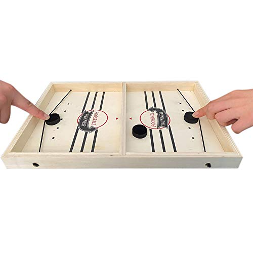 Blanchel Slingshot Tischhockey-Partyspiel, Bouncing Chess Hockey-Spiel, Tisch-Desktop-Kampf 2 in 1 Eishockeyspiel, Gewinner Brettspiele Spielzeug