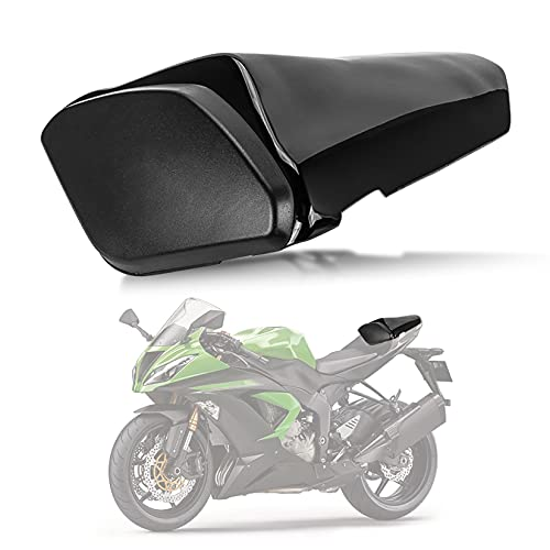 Motorrad Passagier Hinten Beifahrer Sitz Motor Verkleidung Hard Cover für Kawasaki Ninja ZX6R 2009-2017 (Schwarz)
