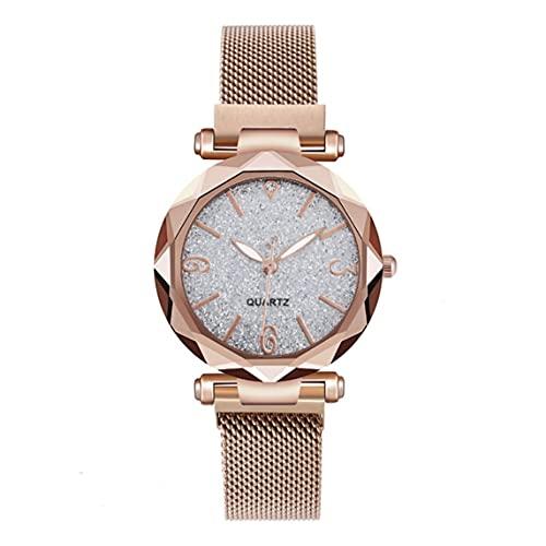 Petrichori Femmes Montre Top Marque De Luxe Magnétique Ciel Étoilé Dame Montre-Bracelet Maille Femme Horloge pour Dropship Relogio Feminino - Gris