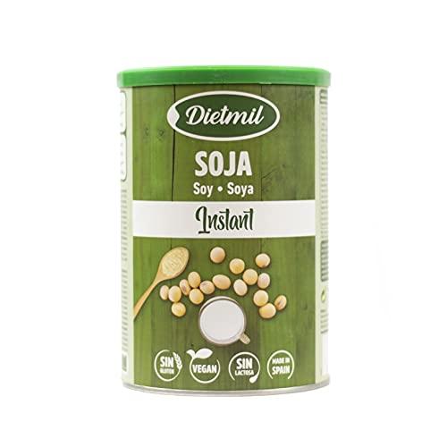 Dietmil - Soja Calcium Instant Bio, Bebida De Soja En Polvo, Bebida Vegetal Ecológica, Sin Azúcares Añadidos, 400 Gramo