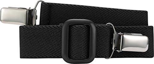 Playshoes Unisex - Kinder Gürtel 601200 Elastischer Kindergürtel mit Clips Uni, passend bei Größe 74-110, Gr. one size, Schwarz (schwarz)