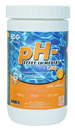 EDENEA - pH Moins Piscine - Baisse Le pH - Poudre - Boite 1,5 kg - EDG