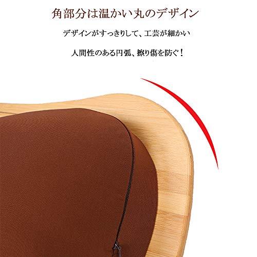 SUMISKY膝上テーブルラップデスクノートパソコンデスク枕クッション天然竹製タブレットラップトップテーブル(38x28cmブラウン)