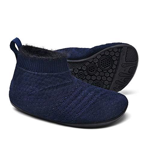 Sosenfer Kinder Hausschuhe Jungen mädchen Anti-Rutsch Sohle Kleinkinder Schuhe Baby Slipper Unisex-CTSHLAN-25
