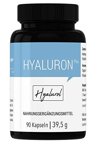 HYALUROL Hyaluronsäure Kapseln I hochdosiert rein I 90 Kollagen-Kapsel-Komplex hergestellt in Deutschland
