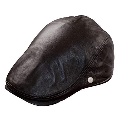 Dazoriginal Leder Flatcap Herren Schiebermütze Schirmmütze Schlägermütze 55-59