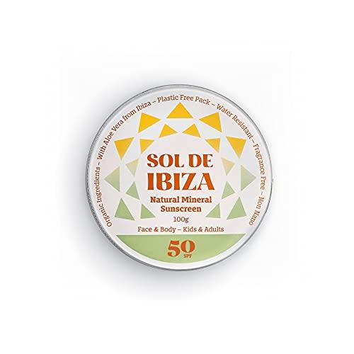 Sol De Ibiza Plastic Free Crema - Protector Solar Mineral Natural SPF50