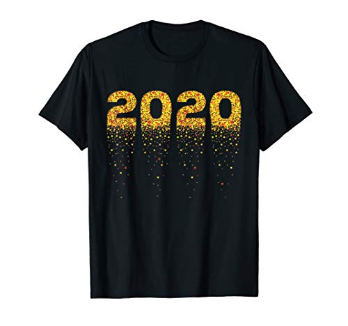 2020 Silvester Sterne - Sekt Feuerwerk Frohes Neues Jahr T-Shirt