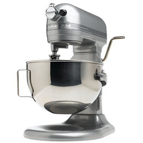 KitchenAid RKV25GOXMC Professional 5-Quart Bowl Lift Stand Mixer, Metallic Chrome (Renewed)