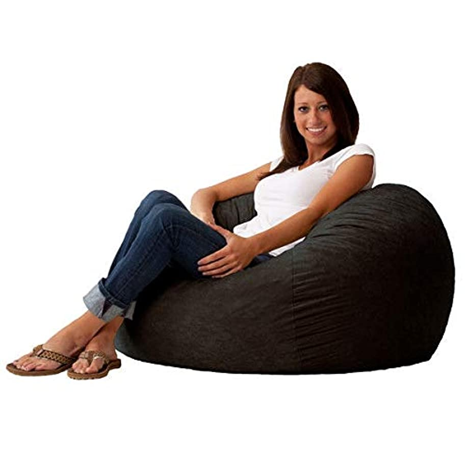 Swag Pads Black Suede Medium 3-Foot Bean Bag Chair - Made in USA