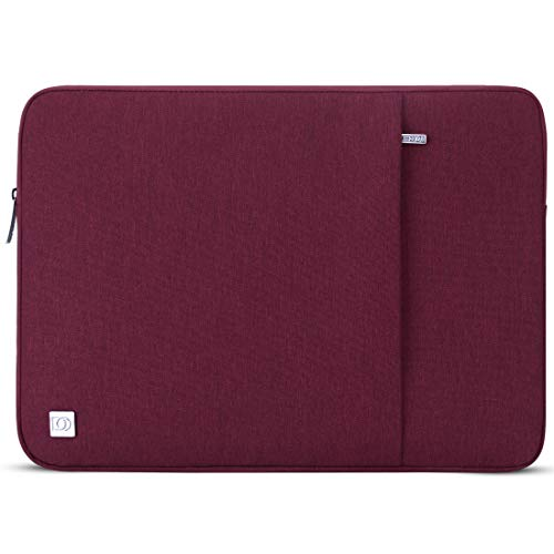 DOMISO 15.6 Inch Waterproof Laptop Sleeve Case Laptop Sleeve Case for 15.6 Inch HP 15/ThinkPad E575 T580/Lenovo IdeaPad S510/ASUS ROG Zephyrus S (GX531)/Acer Swift, Wine Red