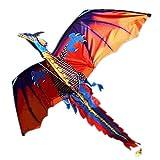 Cometas para niños - Familia Deportes al aire libre Juguetes para niños NUEVO 3D Dragón chino Stereo Kite Wind Spinner Single Line With Tail (Chinese Dragon, OneSize)