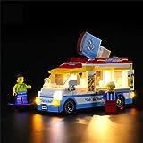 Juego De Luces De Bricolaje Compatible con Lego 60253 City Great Vehículos Bloques De Construcción De Camiones De Helados Modelo De Iluminación Decorativa, Alimentado por USB, Modelo No Incluido