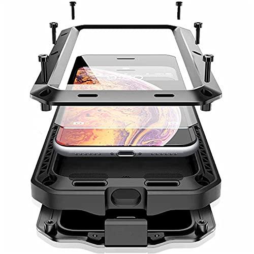 SGGFA antiurto armatura metallo alluminio cassa del telefono per IPhone 12 11 Pro XS MAX Mini XR X 7 8Plus SE completa protezione paraurti copertura (colore : oro, materiale : Per iPhone 12)