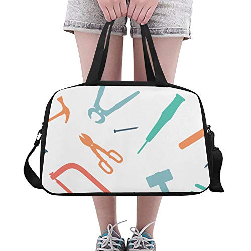 LMFshop Kids Gym Bag Nette Cartoon Mode Zangen Werkzeuge Yoga Gym Totes Fitness Handtaschen Reisetaschen Schuhtasche Für Sportgepäck Damen Outdoor Business Duffel