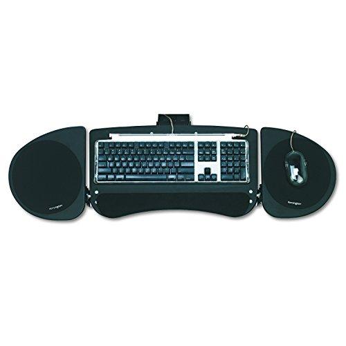 Kensington 60044verstellbar Gelenkige Untertisch Tastatur Plattform, 24–1/2W X 12–1/2D, schwarz