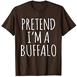 Funny Lazy Halloween Costume Shirt - Buffalo Bison Gift Tee [並行輸入品]