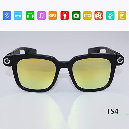 RENYAYA Gafas de Sol polarizadas Gafas Bluetooth 4,0 multifunción estéreo Coche Manos Libres Voz Inteligente Gafas,TS4