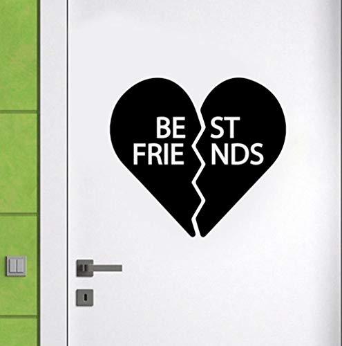 Guokaixyz Beste Vriend Gebroken Hart Applique Vinyl Home Decoratie Deur Muursticker Verwijderbare Mural Moderne Leuke Sticker Behang 42X38Cm