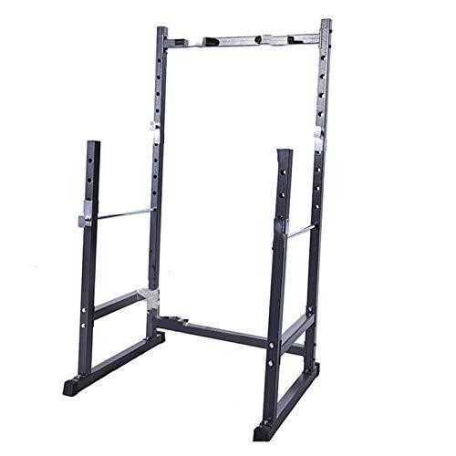 Hantelständer Einstellbar Gewichtsbank Half Frame Squat Barbell Rack Indoor Fitness Ziehen Sie Gewichtheben Bettbank Press Frame Barbell Hubbett Kurzhantel Langhantelständer (Color : As Shown)