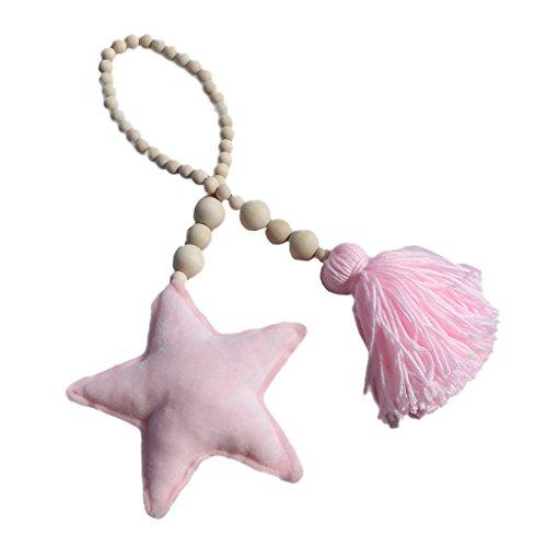 Sharplace Alzapaños de Cortina Hebilla Dosel Correra Decorativo Complimentos Colgante Cómodo - Estrella Rosa