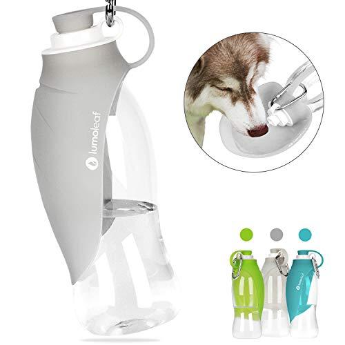 LumoLeaf Tragbare Haustier Wasserflasche, Reversible & Leichte Reise Trinkflasche Wasserspender für Hunde und Katzen, aus lebensmittelechtem Silikon, LumoLeaf Pet Water Bottle(550 ml)
