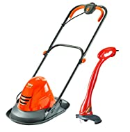 Ideal for sloped and irregular shaped gardens, the Turbo Lite 250 is a compact and lightweight hover mower that floats on a cushion of air, making it highly manoeuvrable for your ease-of-use. Utilises a 1400 W motor and a 25cm cutting deck width so y...