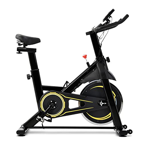 WZFANJIJ Bicicleta Spinning Estática de Fitness con Pantalla LCD, Asiento y Sillín Ajustables.