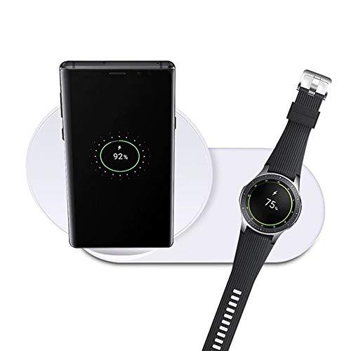 ZYD Stand Station Drahtlose Ladegerät Für Samsung Uhr Für Die Galaxie Samsung Lade Anmerkung 9 8 S9 S8 Sowie Samsung Zahnrad S2 S3 S4,Weiß
