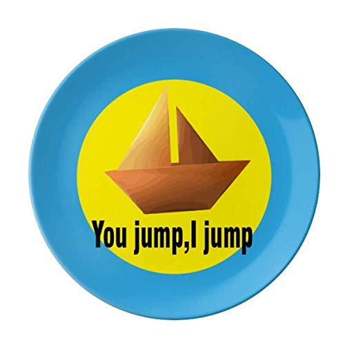 You Jump I Jump Titanic Teller, dekoratives Porzellan, Salver Geschirr, Abendessen