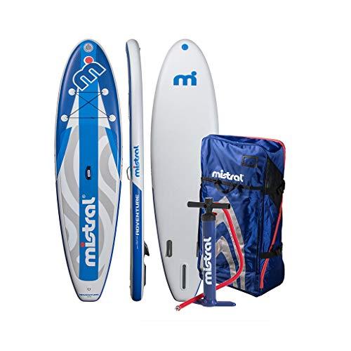 MISTRAL Unisex– Adult's Adventure Inflatable SUP, Blue, 11.5