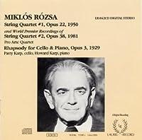 Quartet String 1/2/Rhapsody Cello/Piano