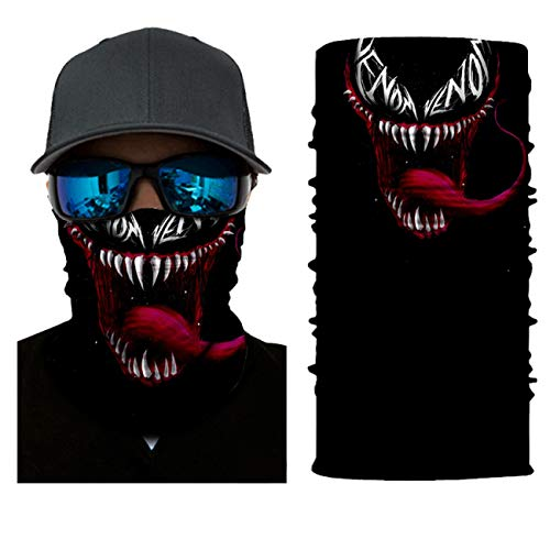 ADKO Bandana Venom Mask Kids Funny Face mask Neck Gaiter Breathable Rave Face Scarf