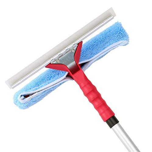 Dubbele Clean Squeegees Wiper met Telescopische staaf, Uitbreidbare Betonvloer Reinigingsruitenwisser, Brede Push Water Foam Bezem voor Exterieur Ramen