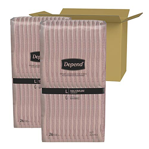 Depend Underwear for Women Maximum Absorbency Economy Plus Pack (Large -52 count)