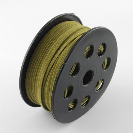 PEPPERLONELY 50M/Roll 2.7mm Wood Cord Beading Cord For Bracelet, Necklace & More (Olive)