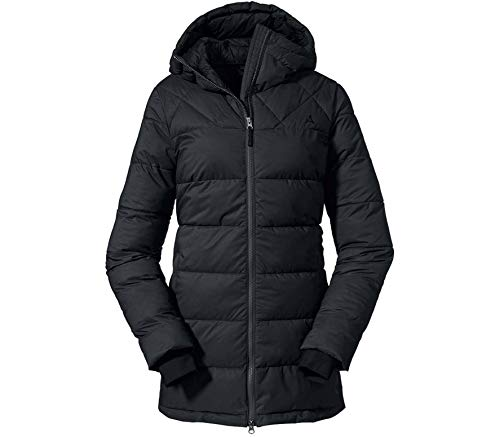 Schöffel Damen Parka Boston L Wintermantel, black, 42