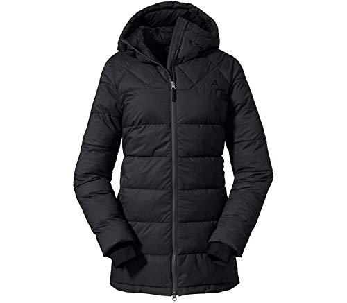 Schöffel Damen Parka Boston L Wintermantel, black, 40